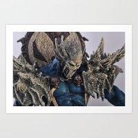 blue Spawn Art Print