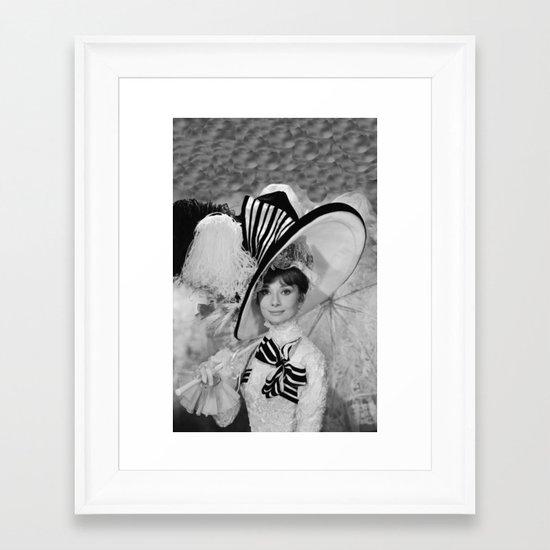 Audrey Hepburn ICONIC ICON BEAUTY SCENE Framed Art Print