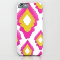 Neon Pink Boho IKat iPhone 6 Slim Case