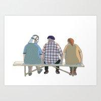 Kind Grandma Art Print