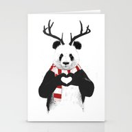 Xmas Panda Stationery Cards