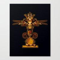 Burtons Totem Canvas Print