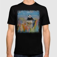 Watercolors Mens Fitted Tee Black SMALL