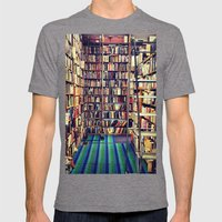 Books Mens Fitted Tee Tri-Grey SMALL