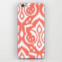 Ikat Damask Coral iPhone & iPod Skin