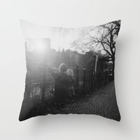 Two Boys in Berlin Throw Pillow
