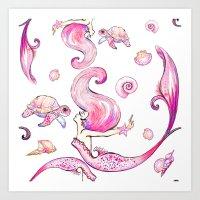 The Joyful SIren Art Print