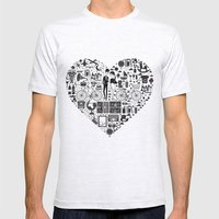 LIKES PATTERNS Mens Fitted Tee Ash Grey SMALL