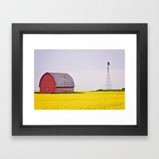 Calgary Barn Landscape Framed Art Print