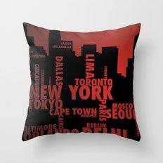 Cities Throw Pillow