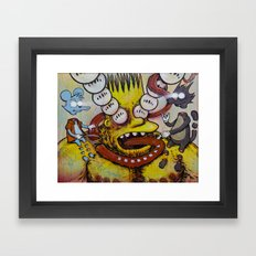 Bart Taking That Trip Framed Art Print