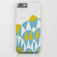 iPhone & iPod Case featuring Modern Day Arches Blue and Yellow by Project M