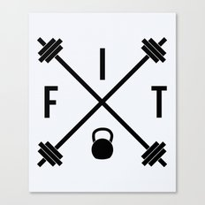Hipster Fit Gym Quote Canvas Print