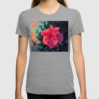 Bloom Into A Galaxy Womens Fitted Tee Tri-Grey SMALL