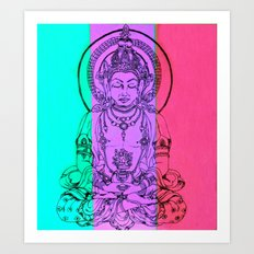 monday meditation Art Print