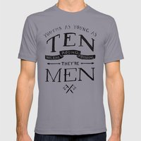 Youths as Youth as Ten Walking Round Thinking They're Men  Mens Fitted Tee Slate SMALL