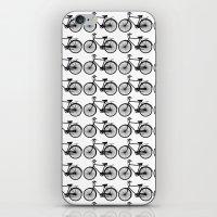 Black Bicycle Pattern iPhone & iPod Skin