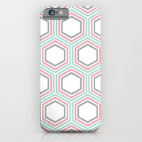 Mint And Coral Honeycomb… iPhone 6 Slim Case