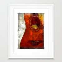 my spanish guitar  Framed Art Print