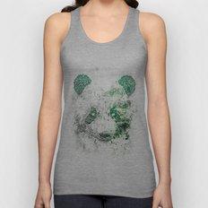 Green Panda Bear Unisex Tank Top