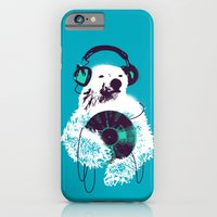 iPhone Cases featuring Record Bear by Budi Kwan