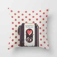 Love Photography Throw Pillow