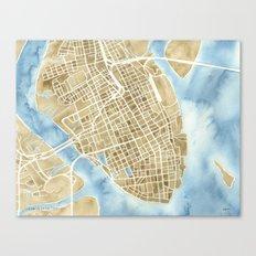 Charleston, South Carolina City Map Art Print Canvas Print