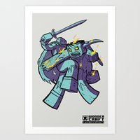 WonderCraft - Burning Zombie Art Print