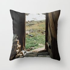 Colorado Mountain Cabin Throw Pillow