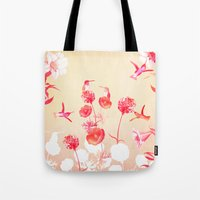 Hummingbirds In The Gard… Tote Bag