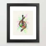 Framed Art Print featuring Colorful Acoustic Guitar by Janice Austin Design…