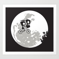 Dib and the E.T Art Print