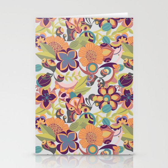 Birds in the fall Stationery Card