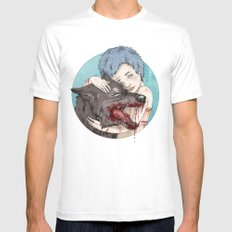Dog-Eared Mens Fitted Tee White SMALL