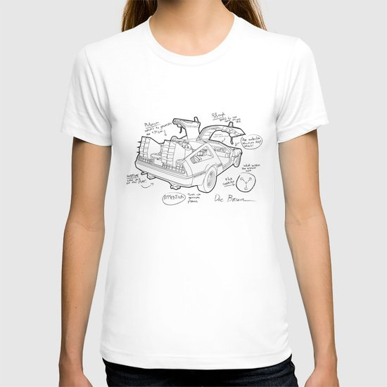 Time Machine Blueprint T-shirt