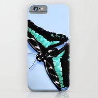 iPhone & iPod Case featuring Papillon vert by Angy'art