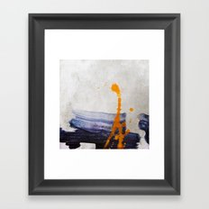brush strokes blue orange Framed Art Print