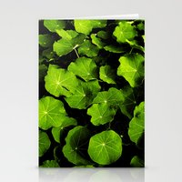 green leafs VIII Stationery Cards