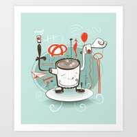 Easily Distracted Art Print
