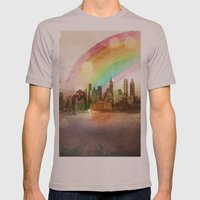 NYC Sky Mens Fitted Tee Cinder SMALL