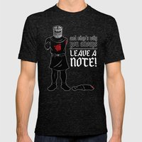 No Note? You Shall Not Pass (Black Version) Mens Fitted Tee Tri-Black SMALL