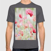 Poppy Pastels Mens Fitted Tee Asphalt SMALL