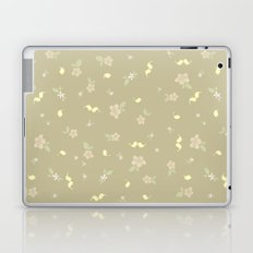 Floral on tan Laptop & iPad Skin