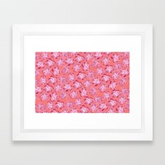 Wallflower - Rosette Framed Art Print