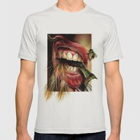 Animal Tomb  Mens Fitted Tee Silver SMALL
