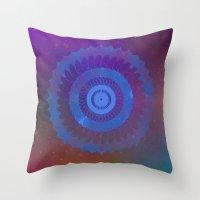 Technicolor Cosmos Blue Throw Pillow
