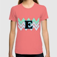 Letter E Womens Fitted Tee Pomegranate SMALL