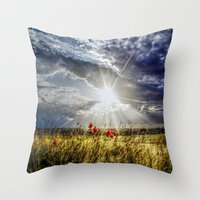 Summer Happens Throw Pillow