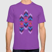 Montauk Chevron Mens Fitted Tee Ultraviolet SMALL