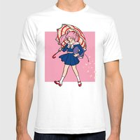 Salty Magical Girl Mens Fitted Tee White SMALL